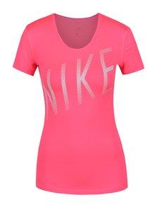 Ružové dámske funkčné tričko s potlačou Nike