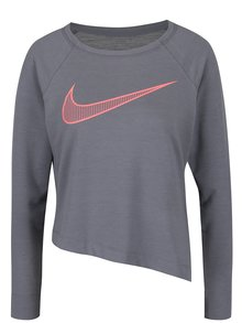 Bluză gri Nike cu tiv asimetric