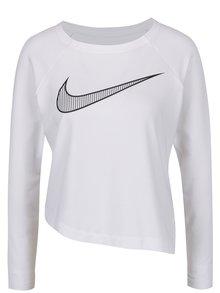 Bluză albă Nike cu tiv asimetric