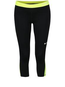 Čierne dámske funkčné 3/4 legíny s neónovými prvkami Nike