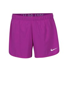 Fialové dámske funkčné kraťasy so všitou elastickou vnútornou časťou Nike