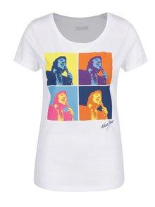 Biele dámske tričko s potlačou Gott My Life Warhol