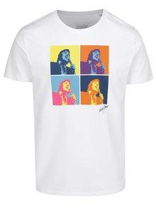 Biele pánske tričko Gott My Life Warhol