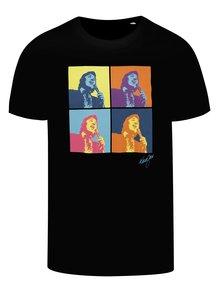 Čierne pánske tričko Gott My Life Warhol