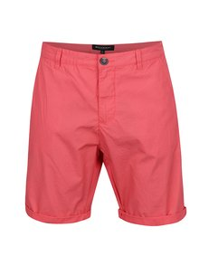 Pantaloni scurți chino roșii Broadway Ewing cu terminații îndoite