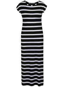 Čierno-biele pruhovnané midišaty Haily´s Carlita