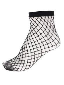 Černé síťované ponožky Haily´s Fishnet L