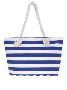 Modro-bílý pruhovaný shopper Haily's Stripey