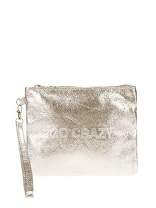 Lesklá listová kabelka v zlatej farbe Haily´s Go Crazy