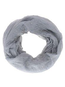 Eșarfă gri  Haily´s Loop Stars cu imprimeu