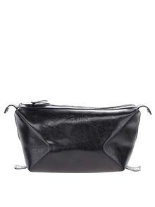 Černá pánská kožená kosmetická taštička Solier