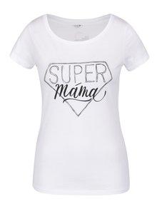 Bílé dámské tričko Zoot Originál Super máma
