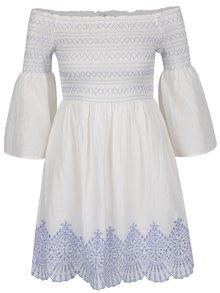 Biele šaty so zvonovými rukávmi Miss Selfridge
