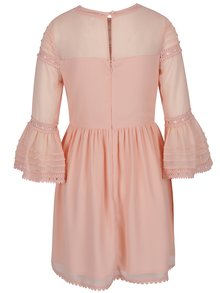 Svetlooranžové šaty so zvonovými rukávmi Miss Selfridge