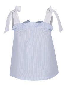 Modrý top s mašľami na ramienkach Miss Selfridge