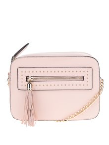 Geantă crossbody roz pal Miss Selfridge
