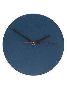 Modré nástěnné hodiny Umelohmotné
