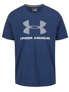 Tmavě modré pánské funkční triko s potiskem Under Armour Sportstyle Logo