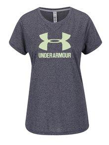 Modré dámske žíhané funkčné tričko Under Armour Threadborne