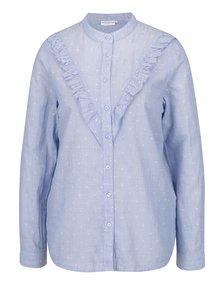 Modrá vzorovaná košeľa s volánom Jacqueline de Yong Futura