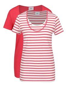 Sada dvou těhotenských/kojicích triček v červené barvě Mama.licious Lea