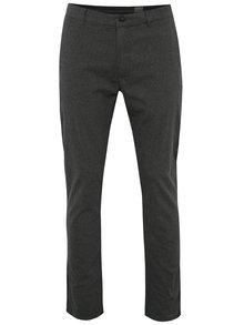Šedé vzorované chino kalhoty Selected Homme Sigurd