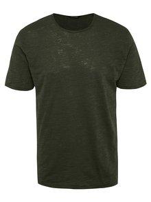 Tmavozelené melírované tričko ONLY & SONS Albert