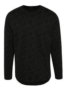 Čierne vzorované tričko a dlhým rukávom ONLY & SONS Van
