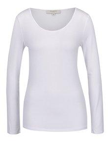 Bluză basic albă cu mâneci lungi Selected Femme Mio