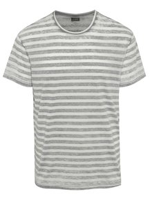 Tricou alb Jack & Jones Burn în dungi