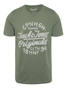Tricou verde Jack & Jones Surf cu print