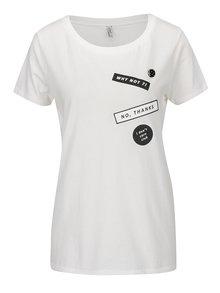 Tricou alb ONLY Kita cu imprimeu