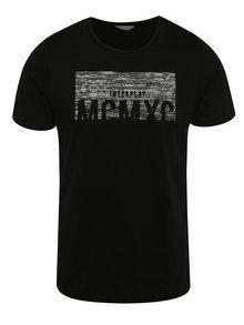 Tricou negru Jack & Jones Mako cu print