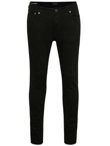 Blugi negri slim fit Jack & Jones Liam