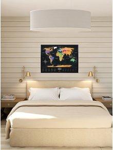 Stieracia mapa sveta v čierno-zlatej farbe Travel Map