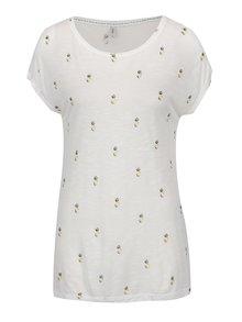 Biele tričko s potlačou ananásov ONLY Sophie