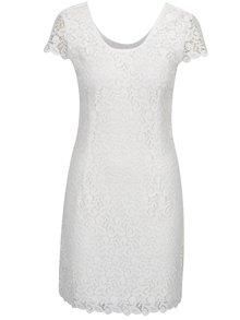 Biele čipkované šaty ONLY Sassy