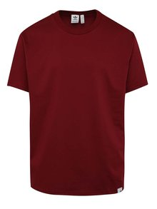 Vínové pánske voľné tričko s krátkym rukávom adidas Originals XBYO