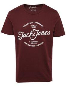 Vínové tričko s potlačou Jack & Jones Ornyraffa