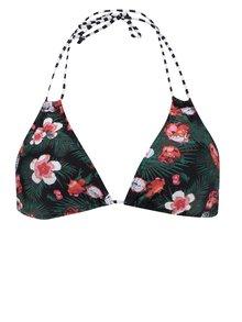 Sutien de baie negru Pieces Liva cu imprimeu floral