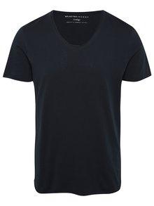 Tmavomodré tričko s krátkym rukávom Selected Homme Newmerce