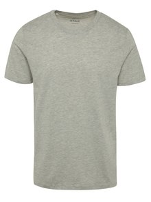 Tricou gri din bumbac Selected Homme The Perfect