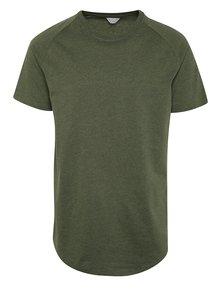 Khaki triko s krátkým rukávem Jack & Jones Corafe