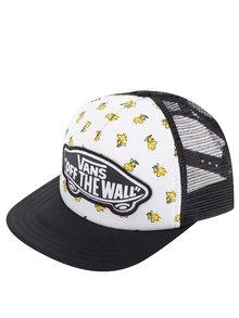 Șapcă alb&negru Vans Peanuts Beach Girl cu imprimeu