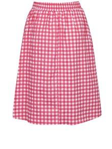 Krémovo-červená kockovaná sukňa ZOOT