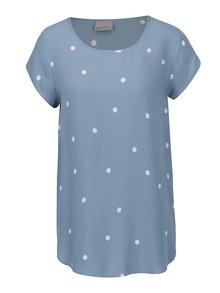 Bluză albastră cu buline albe VERO MODA Boca