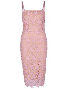 Ružové čipkované šaty VERO MODA Beauti