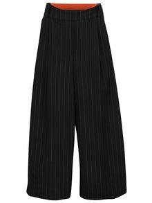 Bílo-černé pruhované culottes s vysokým pasem Silvia Serban