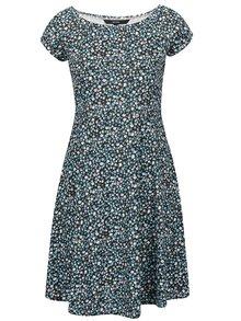 Modro-čierne kvetinové šaty VERO MODA Jane