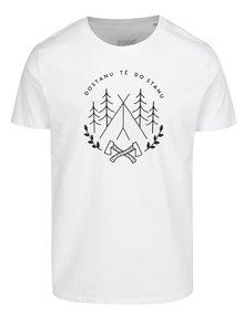 Bílé pánské triko ZOOT Originál  Dostanu tě do stanu